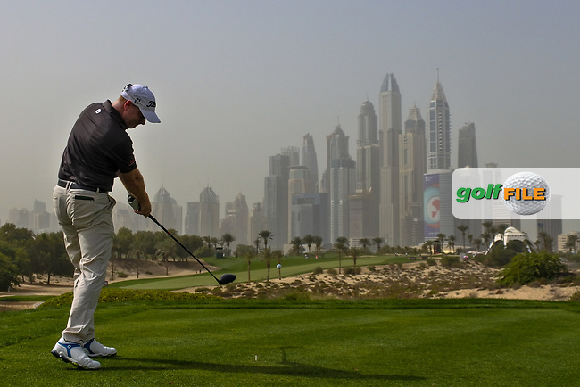 Richard McEvoy (ENG) on the 8th tee during Round 1 of the Omega Dubai Desert Classic, Emirates Golf Club, Dubai,  United Arab Emirates. 24/01/2019<br /> Picture: Golffile | Thos Caffrey<br /> <br /> <br /> All photo usage must carry mandatory copyright credit (&copy; Golffile | Thos Caffrey)