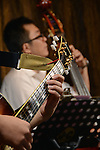 DC Stage, Kaohsiung -- Band leader Samuel Liu of Smalls Jazz Combo playing double bass.