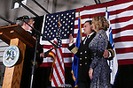Carson City Mayor Bob Crowell gives the oath of office to Carson City Fire Chief Bob Schreihans at a ceremony at Station 51 in Carson City, Nev., on Tuesday, Feb. 3, 2015. <br /> Photo by Cathleen Allison