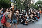 People during the Festival de Musica Balconica-Musica Balconica Festival in Malasana street. June 29,2012. (ALTERPHOTOS/Alconada)
