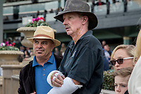 ARCADIA, CA  DECEMBER  26: Trainers Peter Miller (left) and Joe Herrick, who both lost horses in the Lilac Fire, attended the memorial service for the horses lost on December 26, 2017. at Santa Anita Park in Arcadia, CA.(Photo by Casey Phillips/ Eclipse Sportswire/ Getty Images)