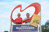 IJSHOCKEY: HEERENVEEN: Jan Janssen & Jack de Heer, Oud ijshockeyspeler uit de glorie tijd van de Feenstra Flyers Jack de Heer vanuit thuisland Canada even terug in Nederland, ©foto Martin de Jong