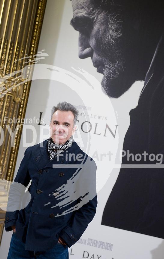 British actor Daniel Day Lewis