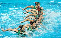 JPN - Japan<br /> HAKOYAMA Aika HAYASHI Aiko<br /> INUI Yukiko MARUMO Kei<br /> MITSUI Risako NAKAMAKI Kanami<br /> NAKAMURA Mai OMATA Kano<br /> TASAKI Asuka YOSHIDA Kurumi<br /> Day9 01/08/2015<br /> XVI FINA World Championships Aquatics<br /> Synchro<br /> Kazan Tatarstan RUS July 24 - Aug. 9 2015 <br /> Photo Pasquale Mesiano/Deepbluemedia/Insidefoto