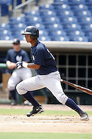 July 10, 2009:  Center Fielder Eduardo Sosa (28) of the GCL Yankees during a game at Bright House Networks Field in Clearwater, FL.  The GCL Yankees are the Gulf Coast Rookie League affiliate of the New York Yankees.  Photo By Mike Janes/Four Seam Images