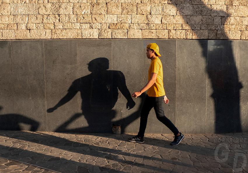Street photography Cebu city and Mactan island, Philippines Shadows along the wall
