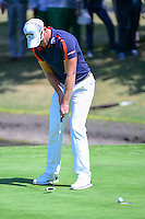 Danny Willett (ENG) sinks his putt on 6 during round 2 of the World Golf Championships, Mexico, Club De Golf Chapultepec, Mexico City, Mexico. 3/3/2017.<br />