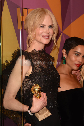 BEVERLY HILLS, CA - JANUARY 7: Nicole Kidman at the HBO Golden Globes After Party, Beverly Hilton, Beverly Hills, California on January 7, 2018. Credit: <br /> David Edwards/MediaPunch