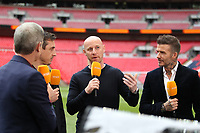 """The """"Class of 92"""" during the Vanarama National League Playoff Final between AFC Fylde & Salford City at Wembley Stadium, London, England on 11 May 2019. Photo by James  Gil."""