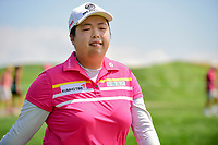 Shanshan Feng (CHN) heads to the number 2 tee during Saturday's third round of the 72nd U.S. Women's Open Championship, at Trump National Golf Club, Bedminster, New Jersey. 7/15/2017.<br /> Picture: Golffile | Ken Murray<br /> <br /> <br /> All photo usage must carry mandatory copyright credit (&copy; Golffile | Ken Murray)