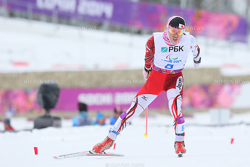 Keiichi Sato (JPN),<br /> MARCH 14, 2014 - Biathlon : <br /> Men's 15km Standing<br /> at &quot;LAURA&quot; Cross-Country Ski &amp; Biathlon Center <br /> during the Sochi 2014 Paralympic Winter Games in Sochi, Russia. <br /> (Photo by Yohei Osada/AFLO SPORT) [1156]
