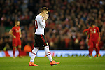 Guillermo Varela of Manchester United dejected during the UEFA Europa League match at Anfield. Photo credit should read: Philip Oldham/Sportimage
