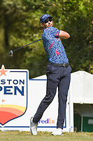 Cameron Tringale (USA) watches his tee shot on 2 during round 4 of the 2019 Houston Open, Golf Club of Houston, Houston, Texas, USA. 10/13/2019.<br /> Picture Ken Murray / Golffile.ie<br /> <br /> All photo usage must carry mandatory copyright credit (© Golffile | Ken Murray)