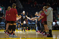SAN FRANCISCO, CA - NOVEMBER 09: San Francisco, CA - November 9, 2019: Alyssa Jerome at the Chase Center. The Stanford Cardinal defeated the USF Dons 97-71. during a game between University of San Francisco and Stanford Basketball W at Chase Center on November 09, 2019 in San Francisco, California.