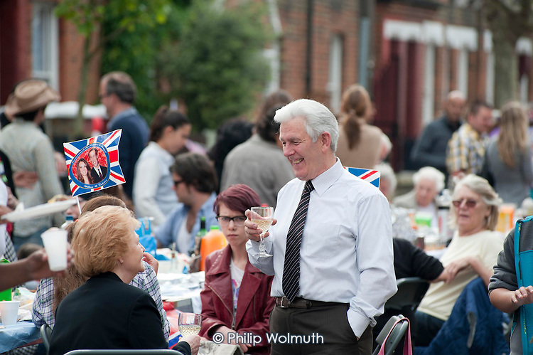 Royal Wedding street party in Kilravock Street, Queen's Park, West London.