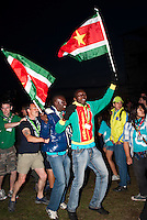 The surinam IST is celebrating after the IST opening ceremony