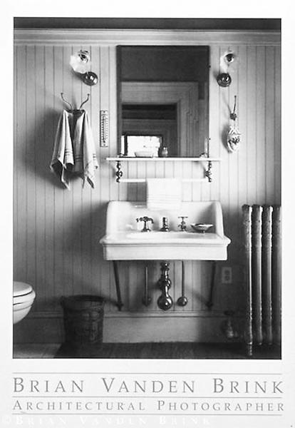 BATHROOM<br /> SKOLFIELD-WHITTIER HOUSE<br /> Brunswick, Maine<br /> Built 1858 © Brian Vanden Brink, 1997