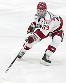 Colin Blackwell (Harvard - 63) - The Harvard University Crimson defeated the visiting Colgate University Raiders 7-4 (EN) on Saturday, February 20, 2016, at Bright-Landry Hockey Center in Boston, Massachusetts,