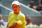 The tennis player Jarkko Nieminenl during the match against Rafa Nadal in the Madrid Open Tennis Tournament. In Madrid, Spain, on 08/05/2014.