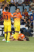 15.09.2012 SPAIN -  La Liga 12/13 Matchday 4th  match played between Getafe C.F. vs F.C. Barcelona (1-4) at Alfonso Perez stadium. The picture show Carles Puyol Saforcada (Spanish defender of Barcelona)