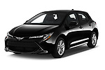2019 Toyota Corolla SE 5 Door Hatchback Angular Front stock photos of front three quarter view