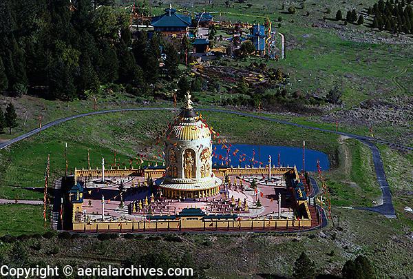 aerial photograph Odiyan Buddhist Retreat Center Sonoma County, California