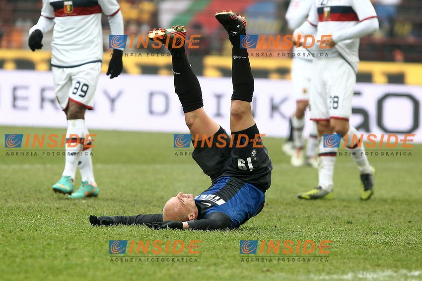 """Delusione Esteban Cambiasso Inter.Milano 22/12/2012 Stadio """"S.Siro"""".Football Calcio Serie A 2012/13.Inter v Genoa.Foto Insidefoto Paolo Nucci."""