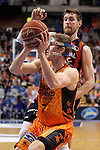 Valencia Basket Club's Justin Doellman (f) and Laboral Kutxa Baskonia's Andres Nocioni during Spanish Basketball King's Cup match.February 7,2014. (ALTERPHOTOS/Acero)