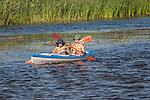 Letni wypoczynek nad rzeką Biebrzą, Polska<br /> Summer vacation on the river Biebrza, Poland