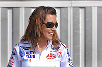 Nov 4, 2007; Pomona, CA, USA; NHRA funny car driver Ashley Force during the Auto Club Finals at Auto Club Raceway at Pomona. Mandatory Credit: Mark J. Rebilas-US PRESSWIRE