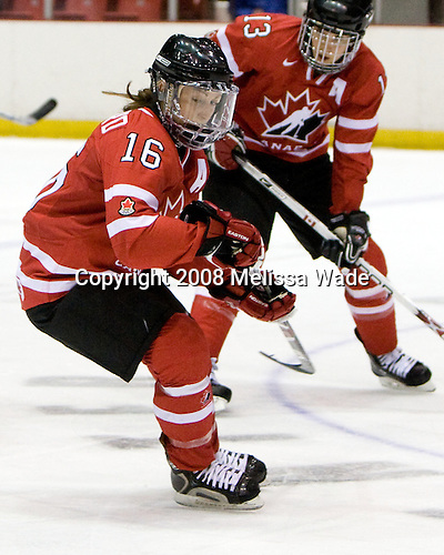 Jayna Hefford (Canada - 16) - Team USA defeated Team Canada 4-3 (so) to win the 2008 Four Nations Cup on Sunday, November 9, 2008, in the 1980 Rink in Lake Placid, New York.