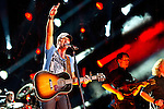 Luke Bryan performs at LP Field during Day 1 of the 2013 CMA Music Festival in Nashville, Tennessee.