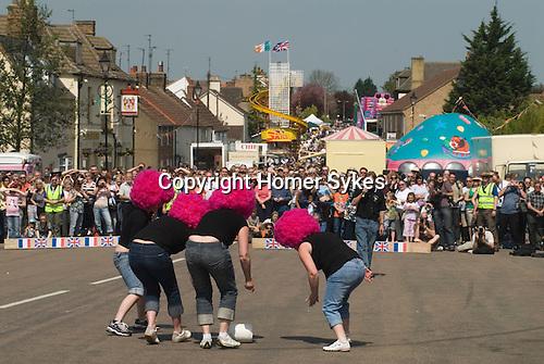 Annual Stilton Cheese Rolling Competition. Stilton village Cambridgeshire UK 2008.