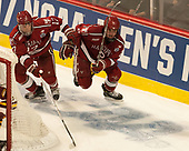 Sean Malone (Harvard - 17), Tyler Moy (Harvard - 2) - The University of Minnesota Duluth Bulldogs defeated the Harvard University Crimson 2-1 in their Frozen Four semi-final on April 6, 2017, at the United Center in Chicago, Illinois.