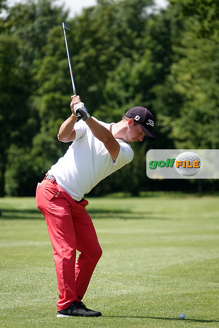 Julian Kunzenbacker (GER) in action during the third round of the Hauts de France-Pas de Calais Golf Open, Aa Saint-Omer GC, Saint- Omer, France. 15/06/2019<br /> Picture: Golffile | Phil Inglis<br /> <br /> <br /> All photo usage must carry mandatory copyright credit (© Golffile | Phil Inglis)
