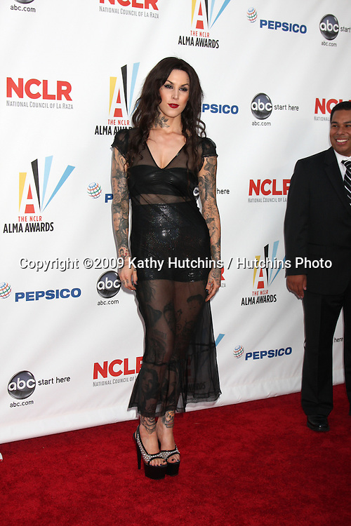 Katherine von Drachenberg, aka Kat Von D.arriving at the 2009 ALMA Awards.Royce Hall, UCLA.Los Angeles, CA.September 17, 2009.©2009 Kathy Hutchins / Hutchins Photo.