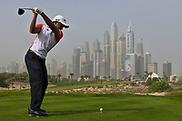S.S.P. Chawrasia (IND) on the 8th tee during Round 1 of the Omega Dubai Desert Classic, Emirates Golf Club, Dubai,  United Arab Emirates. 24/01/2019<br /> Picture: Golffile | Thos Caffrey<br /> <br /> <br /> All photo usage must carry mandatory copyright credit (&copy; Golffile | Thos Caffrey)