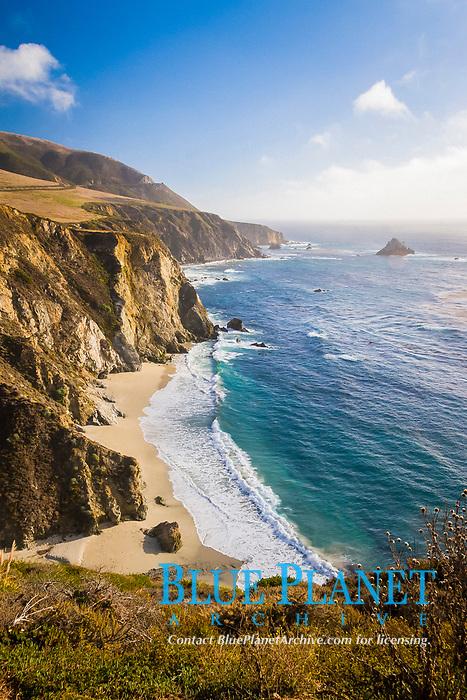 beach, Big Sur coast, California, USA, Pacific Ocean