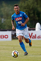 Christian Maggio  of Napoli during a preseason friendly soccer match against Aunania in Dimaro's Stadium   12 July 2017