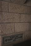 Israel, Shephelah, the Trappist Monastery in Latrun, the cornerstone.