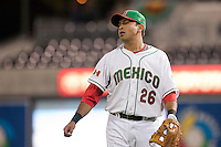 16 March 2009: #26 Oscar Robles of Mexico is seen prior to the 2009 World Baseball Classic Pool 1 game 3 at Petco Park in San Diego, California, USA. Cuba wins 7-4 over Mexico.
