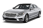 2017 Mercedes Benz S-Class S550 4 Door Sedan Angular Front stock photos of front three quarter view