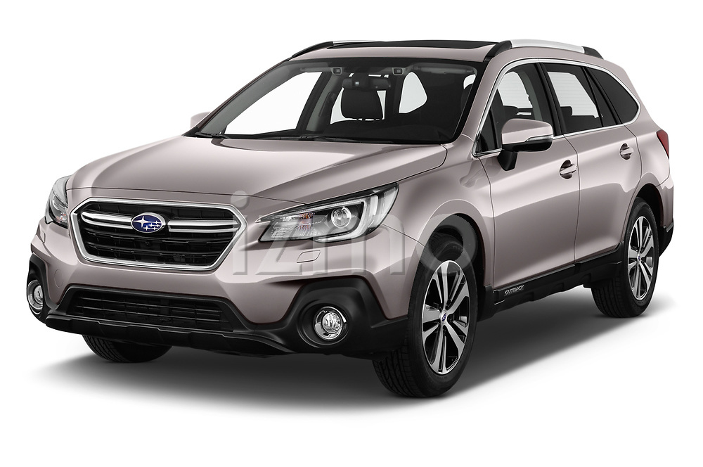 2019 Subaru Outback Premium 5 Door Wagon Angular Front stock photos of front three quarter view
