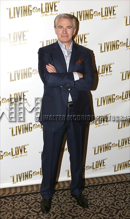 Douglas Sills attends the 'Living on Love' photo call at the Empire Hotel on March 12, 2015 in New York City.