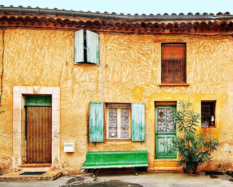 Facade of house, Roussillon, Provence