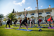 MONCARAPACHO, PORTUGAL - FEBRUARY 05: Yoga after the training session at the fifth day of the training camp on February 5, 2020 in Moncarapacho, Portugal. (Photo by David Lidström Hultén/LPNA) ***BETALBILD***