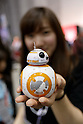 An exhibitor shows a Star Wars robot BB-8 during the Tokyo Comic Con at Makuhari Messe International Exhibition Hall on December 3, 2016, Tokyo, Japan. Tokyo's Comic Con is part of the San Diego Comic-Con International event and is being held for the first time in Japan from December 2 to 4, 2016. (Photo by Rodrigo Reyes Marin/AFLO)