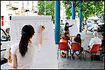 Corsi gratuiti di lingua italiana per stranieri e corsi di cinese, arabo, spagnolo e romeno per italiani, a Torino in piazza Bottesini. Luglio 2012