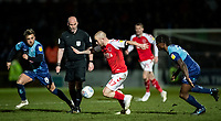 Fleetwood Town's Paddy Madden (centre) breaks<br /> <br /> Photographer Andrew Kearns/CameraSport<br /> <br /> The EFL Sky Bet League One - Wycombe Wanderers v Fleetwood Town - Tuesday 11th February 2020 - Adams Park - Wycombe<br /> <br /> World Copyright © 2020 CameraSport. All rights reserved. 43 Linden Ave. Countesthorpe. Leicester. England. LE8 5PG - Tel: +44 (0) 116 277 4147 - admin@camerasport.com - www.camerasport.com
