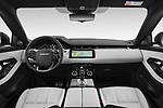 Stock photo of straight dashboard view of 2019 Land Rover Range-Rover-Evoque Dynamic 5 Door SUV Dashboard